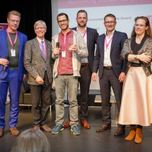 Bild von Sonah Gründer Ter Smitten und Wolf Goertz und dem Bürgermeister von Osnabrück