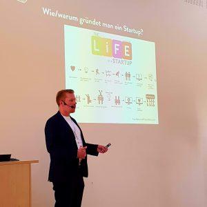 Netrocks Geschäftsführer Wolf Goertz bei seiner Session