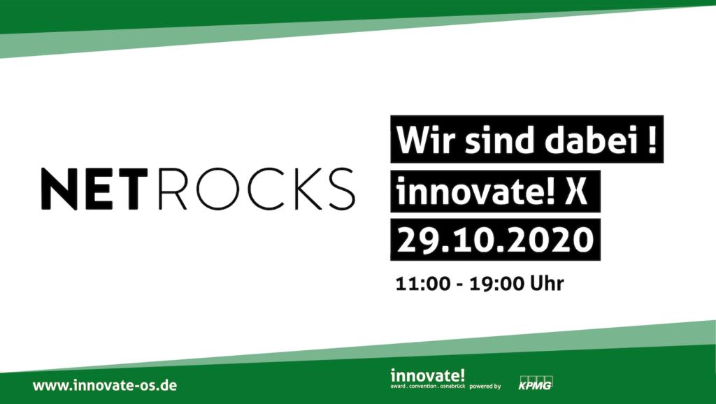 Netrocks auf der innovate!X am 29.10.2020